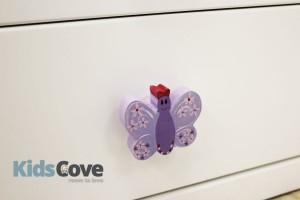 Doorknob - Lilac Butterfly