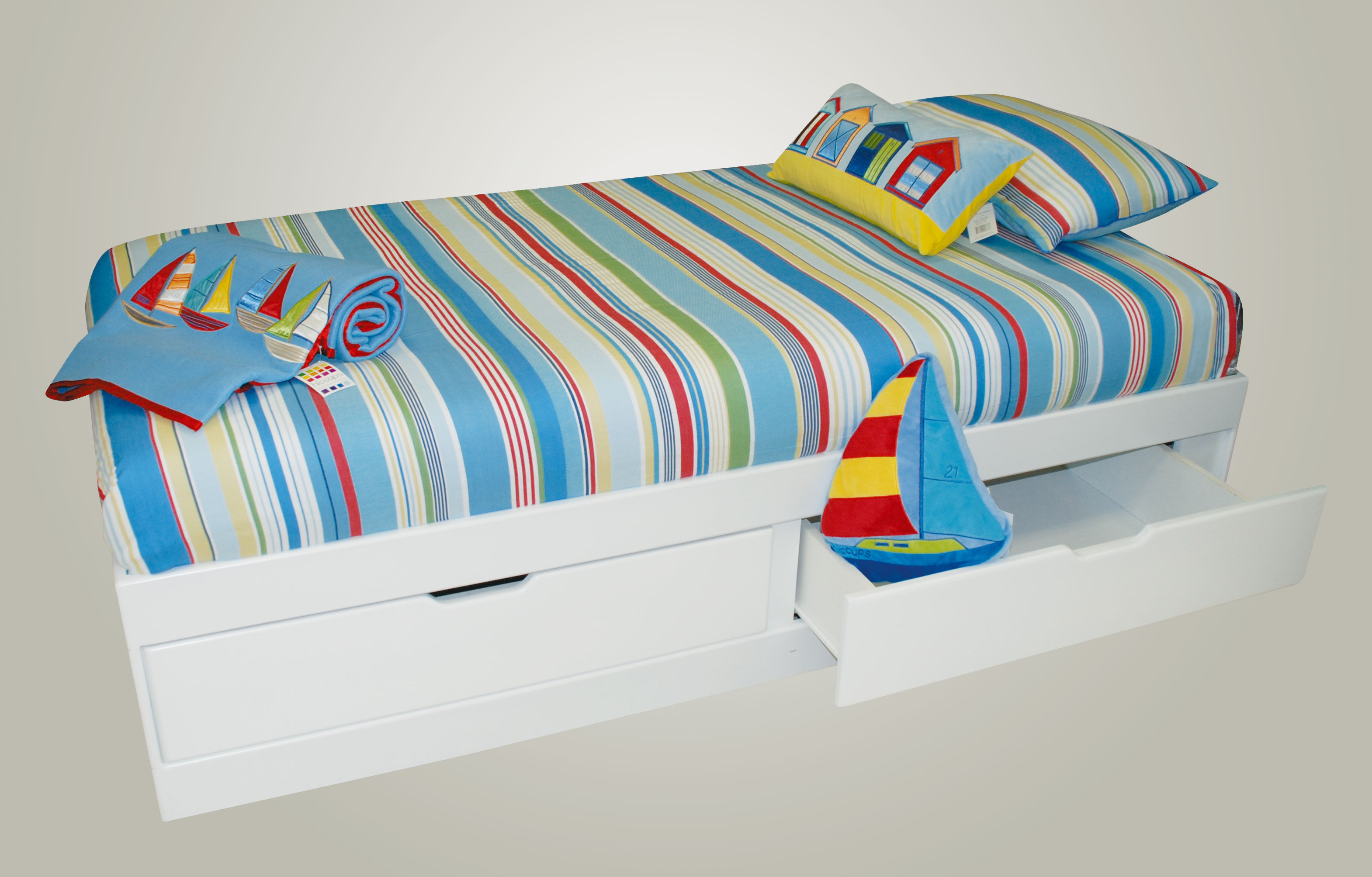 Felix Box Bed With Deep Drawers Single Three Quarter Kids Cove