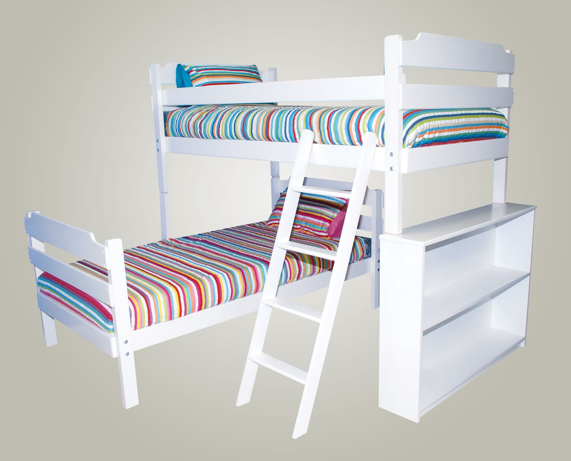 The Luke L Shape Bunk Bed Conversion Kids Cove