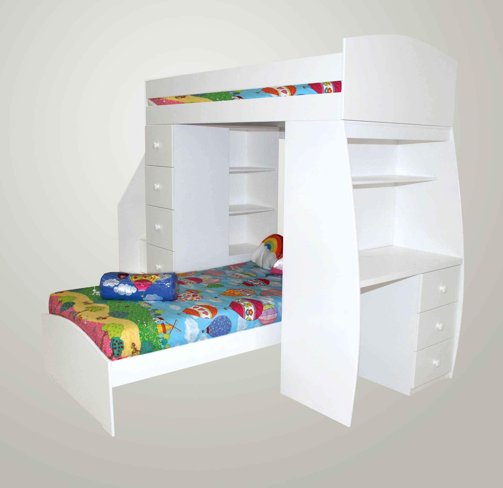 max multi bunk bed without bottom bed kids cove. Black Bedroom Furniture Sets. Home Design Ideas