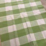 Machine Washable Rug - Lime green white check - Kids Cove