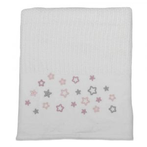 Star cellular blanket Pink - Kids Cove