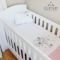Baby owl-pink-gingham