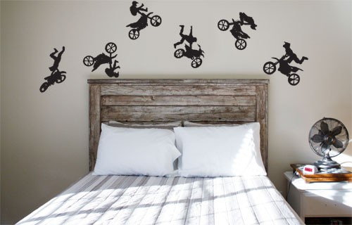 Moto X Bikes Vinyl Wall Stickers