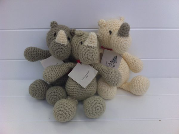 25cm soft toy. Handmade, local, hand-knitted and uniquely South African toy.
