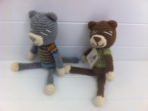 30cm soft toy. Handmade, local, hand-knitted and uniquely South African toy.