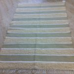 Stone / Cream pile / White Stripe