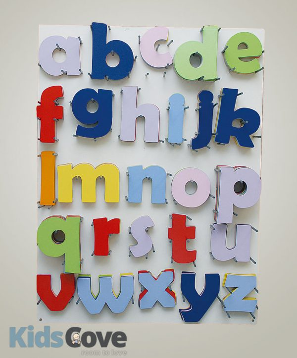 Colourful Wooden Letters-large