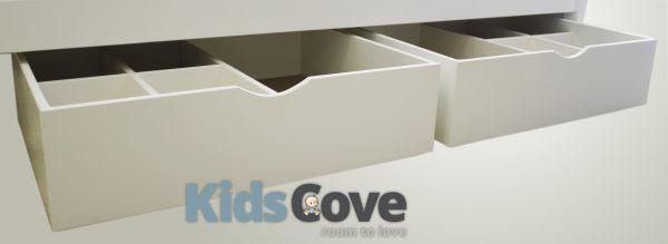 storage box drawer on wheels for underbed