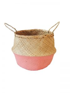 Coral dipped belly basket storage solution - Kids Cove
