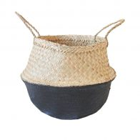 Black dipped belly basket storage solution - Kids Cove