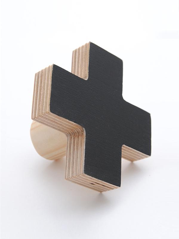 Cross Wall Hooks In Birch Or Painted Front In Black Mint