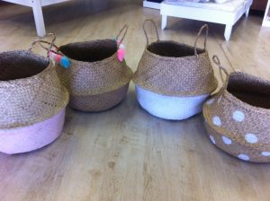 Dipped belly baskets