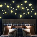 Glow in the dark star vinyl wall stickers