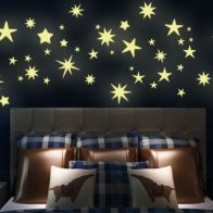 Glow in the dark star vinyl wall stickers