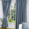 Blue tape lined curtain - Kids Cove