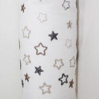 Embroidered stars cot bumper cover stone - Kids Cove