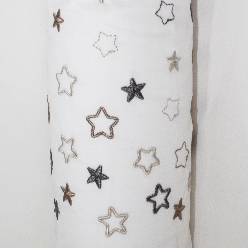Embroidered stars cot bumper cover stone - Kids Cove