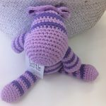 Purple Crochet Zebra