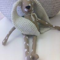 Stone Fabric Crochet Bunny - Kids Cove