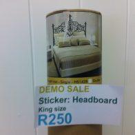 King size wrought iron headboard wall sticker