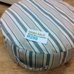 Duck egg stripe bum cushion - Small