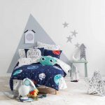 Hiccups planetary duvet cover set