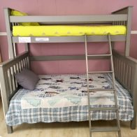 Rory Bunk Bed Single over Double - Elephant grey - Kids Cove