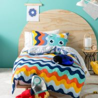 Hiccups Wavelength Navy Duvet Cover Set - Kids Cove