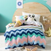 Hiccups Wavelength Pink Duvet Cover Set