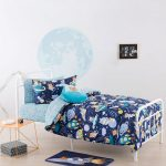 Zoom to the moon duvet cover