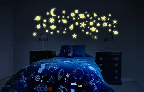 Glow in the dark celestial wall stickers