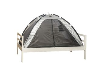 Deryan Single bed tent (mosquito net) silver closed - Kids Cove