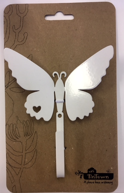 Butterfly hook white