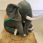Elliot elephant novelty cushion - Kids Cove