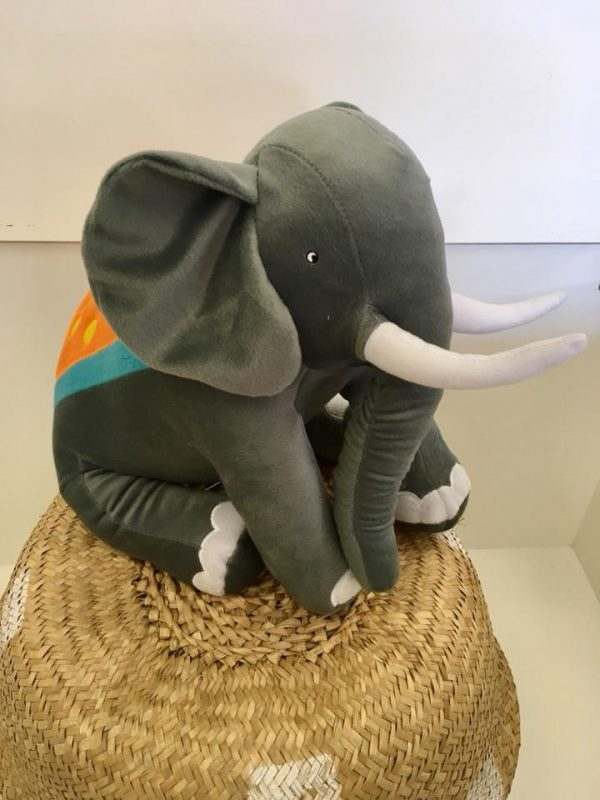 Elliot elephant novelty cushion - Kids Cove