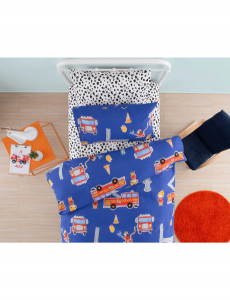 Fire Engine Duvet Cover - Kids Cove