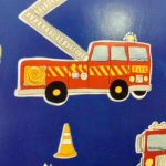 Fire Engine duvet cover - detail - Kids Cove