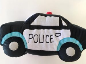 Police car novelty cushion - Kids Cove