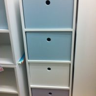 4 division 1 column pigeon hole unit