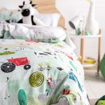 Farmland Mint Duvet Cover - Kids Cove
