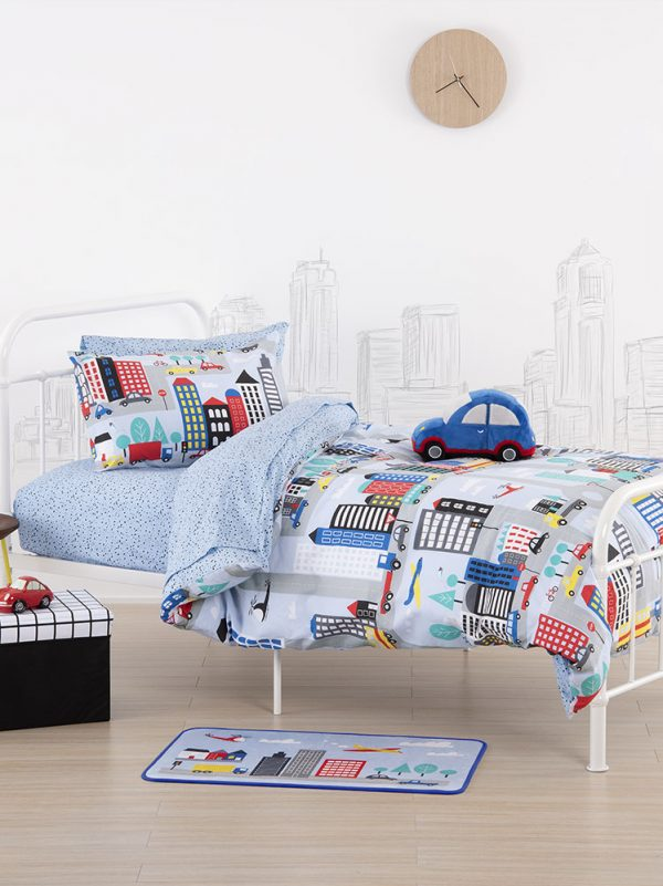 City Streets Duvet Cover - Kids Cove
