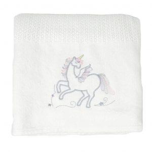 Unicorn Cellular Blanket - Kids Cove