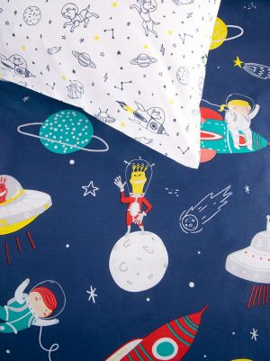 Space Squad Duvet Cover pillow - Kids Cove