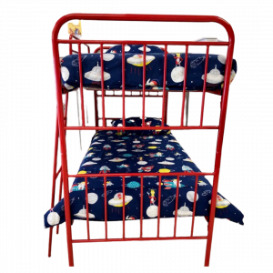 Sophie Metal Bunk Bed Red Single (end) - Kids Cove