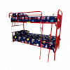 Sophie Metal Bunk Bed Red Single (side 1) - Kids Cove