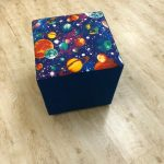 Space Ottoman Footstool - Kids Cove