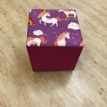 Unicorn Rainbow Ottoman Footstool - Kids Cove
