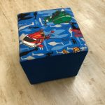 Birds Ottoman Footstool - Kids Cove