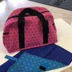 Pink Shweshwe Nappy Weekender Bag (mat) - Kids Cove